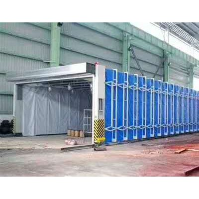 伸缩式喷漆房废气处理使用的一种大型环保设备