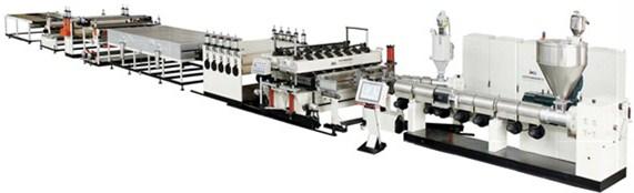 供应中空建筑模板设备/pp三层模板生产线厂家