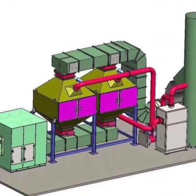 催化燃烧废气处理环保设备工作原理及结构图