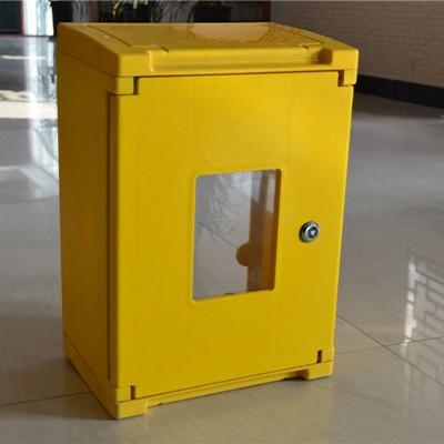 供应玻璃钢燃气表箱 单户型一表位燃气表箱