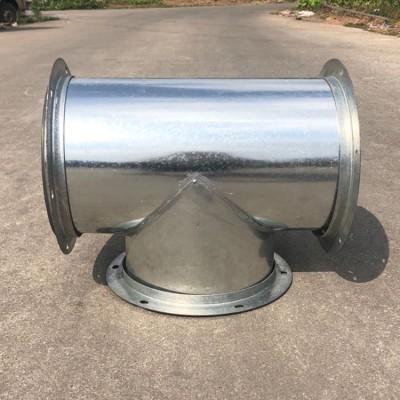 耐高温螺旋风管加工排风管道 镀锌板三通弯头加工厂