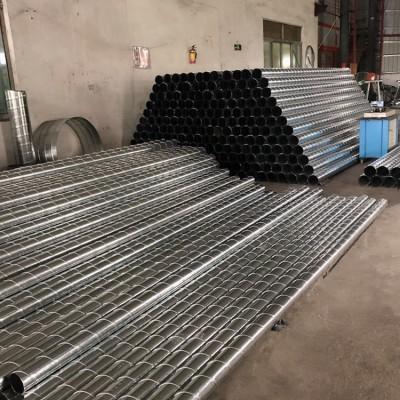 佛山加工镀锌螺旋风管Φ300/0.8厚螺旋风管价格美丽