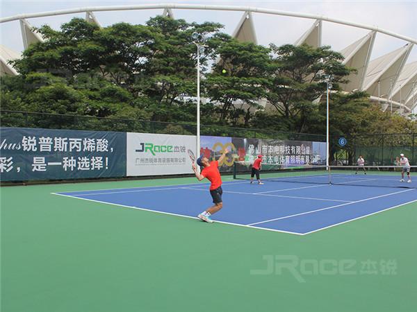 无溶剂型硅PU网球场造价多少?
