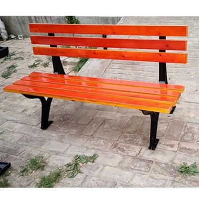 路边等候椅 木质长条座椅 铸铝靠背椅