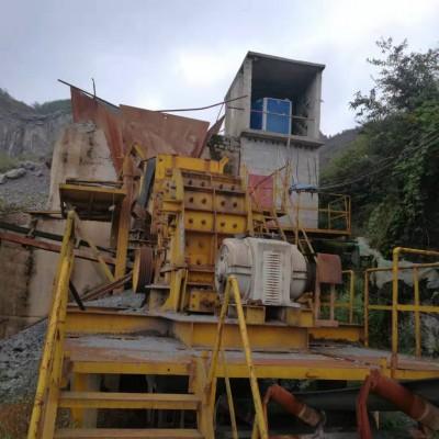 二手日产1800吨砂石料生产线150型二合一破碎机碎石机