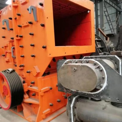 二手日产3500吨砂石料生产线250型二合一破碎机碎石机