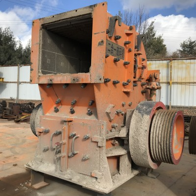 二手95新鹅暖石制砂生产线设备二合一破碎机制砂机设备低价处理