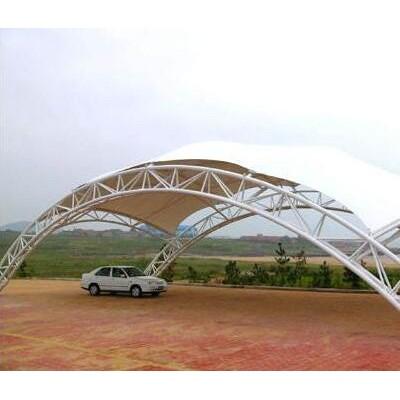 黄冈停车场充电桩张拉膜结构/汉泰遮阳棚膜结构/膜结构车棚维修