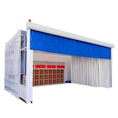 移动伸缩式喷漆房 适用范围和特点