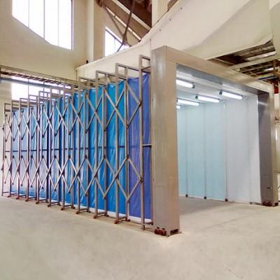 定制任意尺寸伸缩喷漆房 生产厂家