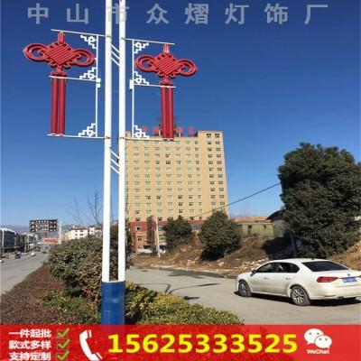 道路亮化 led落地式中国结灯 公园小区led中国结景观灯柱