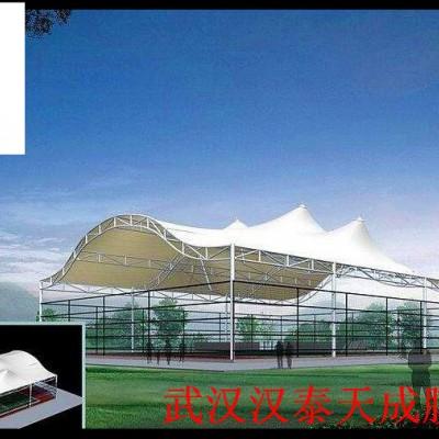湖北收费站/加油站顶棚膜结汉泰膜结构维修襄阳膜结构遮阳棚制作
