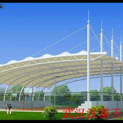 湖北候车站台膜结构 汉泰膜结构维修 咸宁电动车遮雨棚膜结构