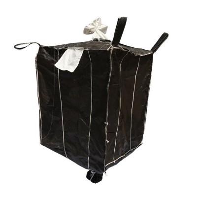 广东吨包袋拉筋厂家平行托底加厚耐磨1吨黑色吨包污泥吨袋编织袋