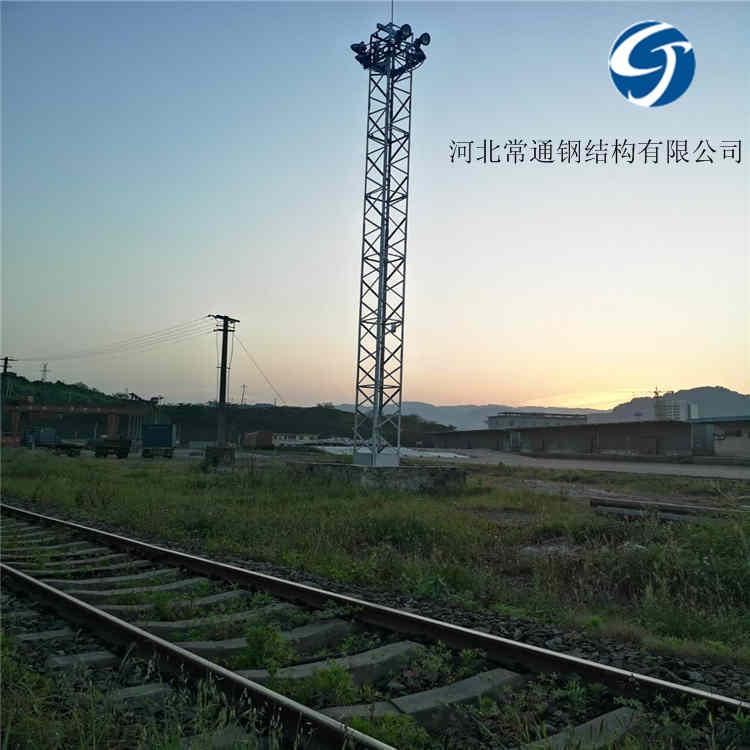 厂家定制 站场照明灯塔 21.5米升降式投光灯塔