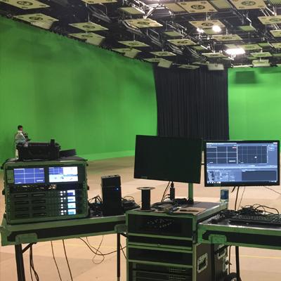 实景演播室整体施工方案 真三维虚拟演播室蓝箱抠像系统