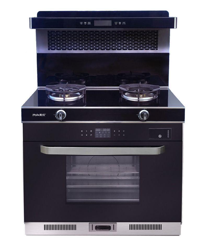 美炊蒸烤消集成灶头部保温带蒸箱蒸烤箱消毒一体灶自动清洗