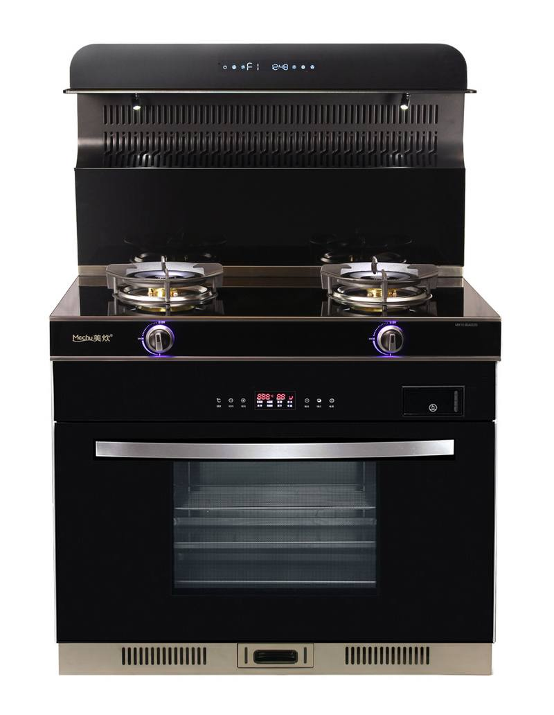 美炊蒸烤消集成灶家用智能体感烟灶消蒸烤套装自动清洗