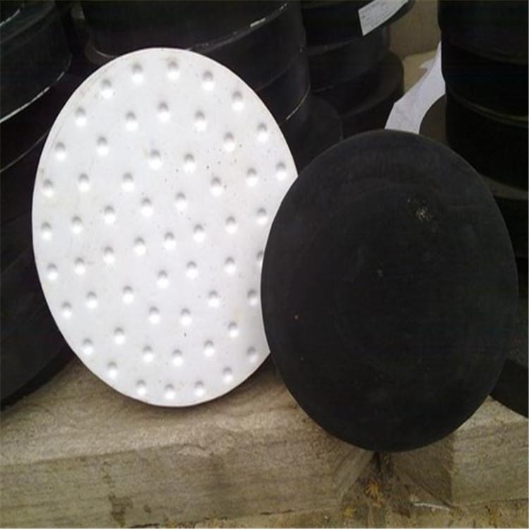圆形四氟滑板橡胶支座 桥梁公路使用橡胶支座减震垫块伸缩缝