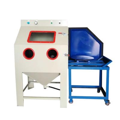 上海推进式手动喷砂机 塑料去毛刺干式喷砂机