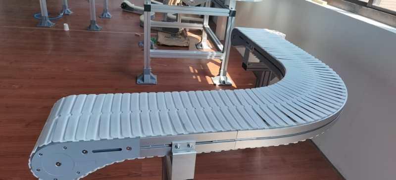 螺旋垂直塑料链板输送带
