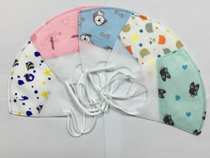 现货供应KN95儿童口罩 3D打印 卡通图案