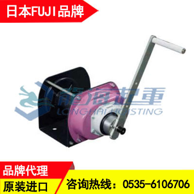 PSW-100N富士手摇绞车 100kg自刹车手动绞盘