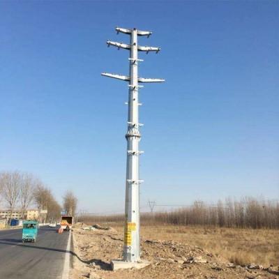 电力钢杆 热镀锌电力钢杆 10KV输电架线钢杆定做厂家