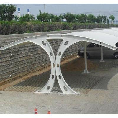 济宁膜结构车棚厂家-济宁小区膜结构停车棚-济宁膜结构体育看台