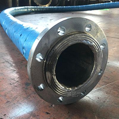 生产大口径排水胶管DN300高压16公斤法兰夹布输水胶管