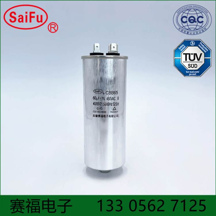 CBB65 地龙仪蚯蚓机电容450VAC 60UF