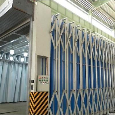 多功能移动伸缩喷漆房厂家定制安装